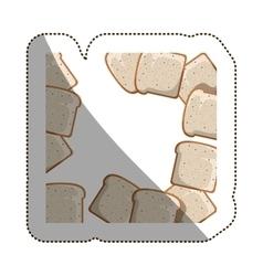 Isolated bread toast design vector