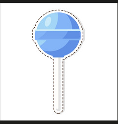 lollipops candy patch isolated on white background vector image vector image