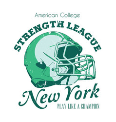New york strength league poster vector