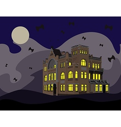 Night of halloween vector
