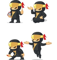 Ninja customizable mascot 10 vector