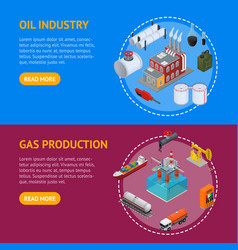 oil industry and energy resource banner horizontal vector image