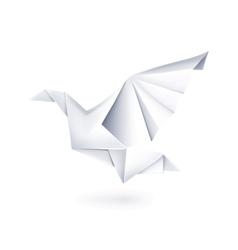 Paper dove origami vector image vector image