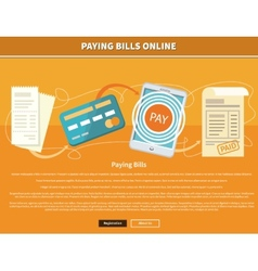 Pay bills online vector