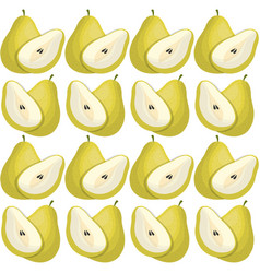 pear seamless pattern design vector image vector image