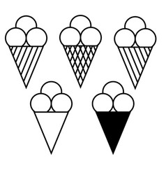 set of ice cream symbols 908 vector image