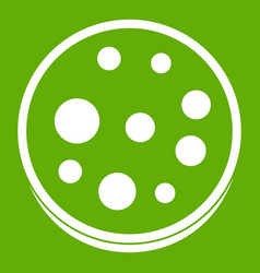 slice of salami icon green vector image