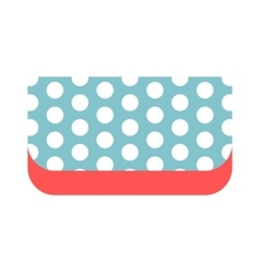 Summer bag clutch icon isolated on white vector