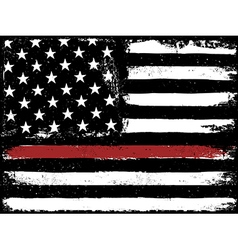 Tattered Flag Red Line Fire vector image