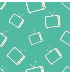 TV icons pattern vector image vector image