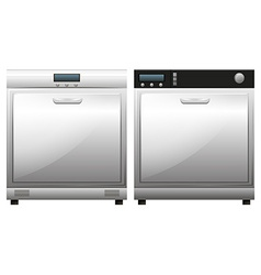 Two machines for dish washing vector