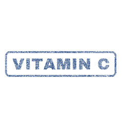 Vitamin c textile stamp vector