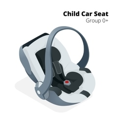 Newborn baby car seat isolated on white isolated vector