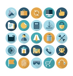 icons flat line ui interface vector image