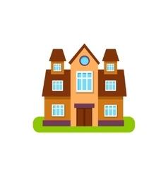 Simmetrical suburban house exterior design with vector