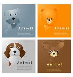 Animal portrait collection with dogs 1 vector
