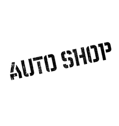 Auto shop rubber stamp vector