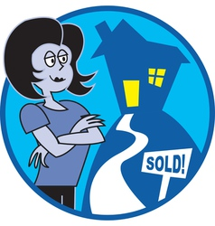Realtor sold vector image