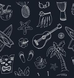 hawaii seamless pattern including hula skirt vector image