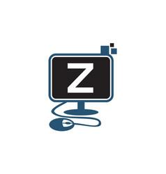 Digital technology initial z vector