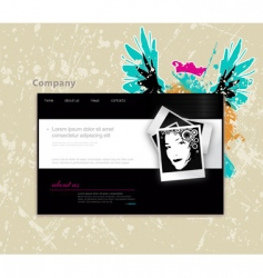website template with photo vector image