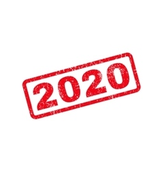2020 Text Rubber Stamp vector image vector image