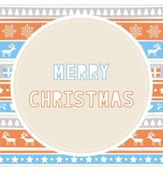 Merry christmas greeting card26 vector