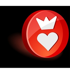 Sweetheart icon vector