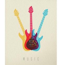 Music concept icon electric guitar color design vector image
