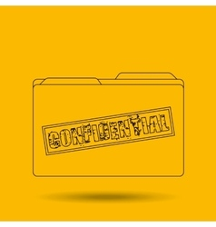 Confidential folder design vector