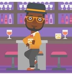 Man sitting at bar vector image