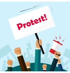 Politic protest signs crowd of people protesters vector image