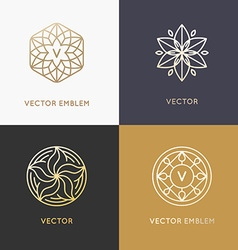 Abstract monograms and logo design templates vector