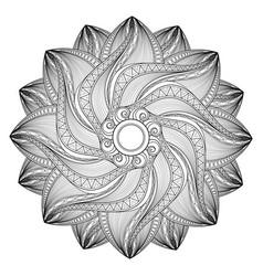 beautiful deco monochrome contour mandala vector image vector image