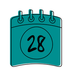 Calendar 28 icon image vector