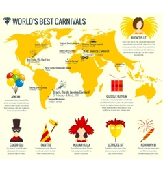 Carnival infographic poster print vector