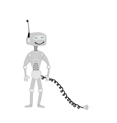 cartoon robot vector image
