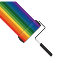 Colorful of paint roller brush vector