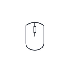 computer mouse thin line icon linear vector image vector image