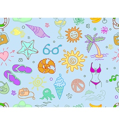 Doodle travel pattern vector image vector image