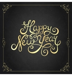 Happy New Year lettering for invitation and vector image vector image