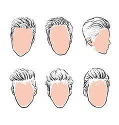 hipster fashion man hair Hand drawn vector image vector image