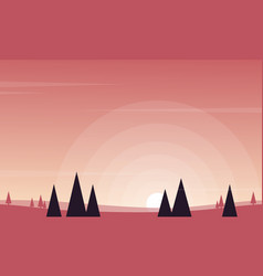 Landscape at sunrise for game background vector