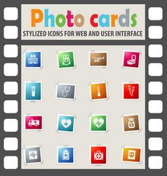 medicine icon set vector image vector image