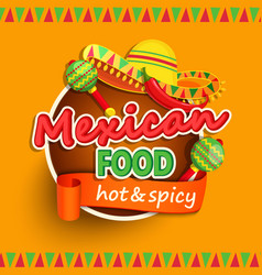 Mexican food label vector image