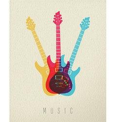 Music concept icon electric guitar color design vector image vector image