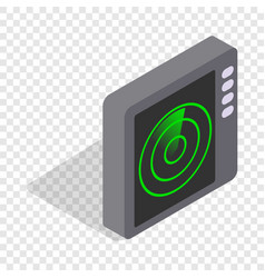 Radar screen isometric icon vector