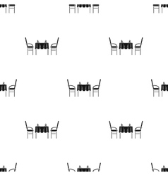 Restaurant table icon in black style isolated on vector image vector image