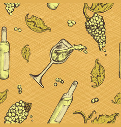 Seamless pattern of an alcoholic beverage and vector