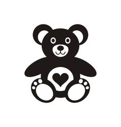 Teddy bear icon with heart vector
